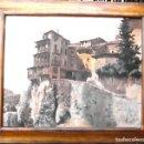 Arte: CASAS COLGADAS DE CUENCA. ÓLEO/ TABLA 65X81 CMS. FIRMADA D. CAÑAS.. Lote 73667311