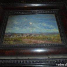 Arte: NORIEGA - CUADRO PINTADO AL OLEO PAISAJE , AFUERAS DE PUEBLO NUEVO - 1 ER . PREMIO , 28-5-1943 . Lote 73765099