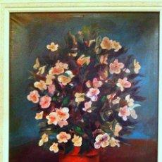 Arte: CUADRO ÓLEO BODEGÓN FLORES SOBRE TELA DEL PINTOR PABLO MAÑÉ 1921 – 2004. Lote 73790171