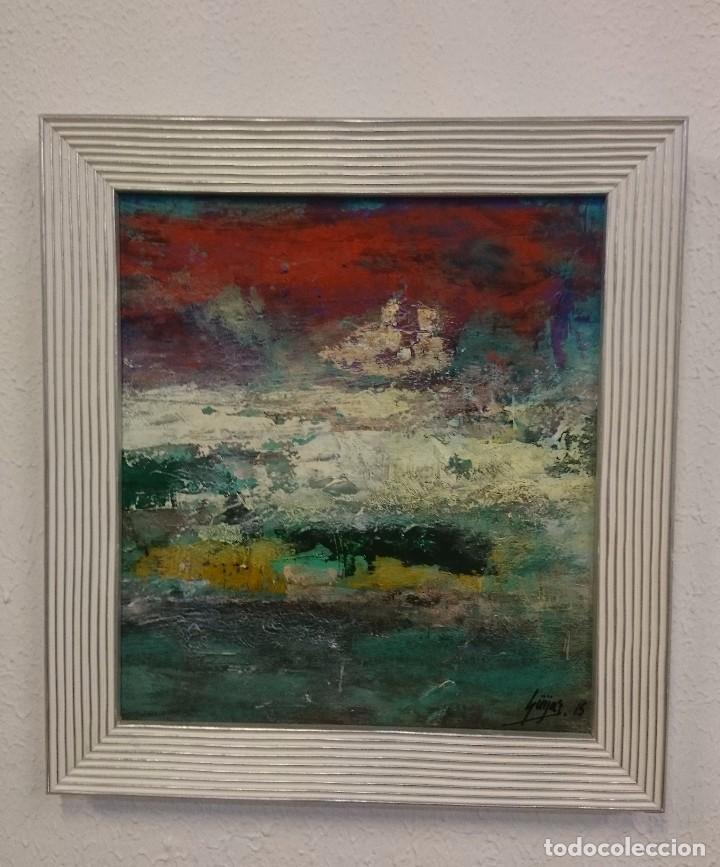 cuadro pintura abstracta enmarcado - Comprar Pintura al Óleo ...