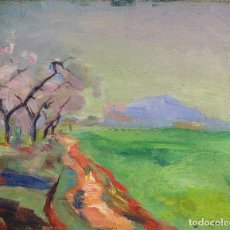 Arte: ÓLEO SOBRE LIENZO PAISAJE CAMPO FIRMADO SANVISENS (1917-1987). Lote 74325691