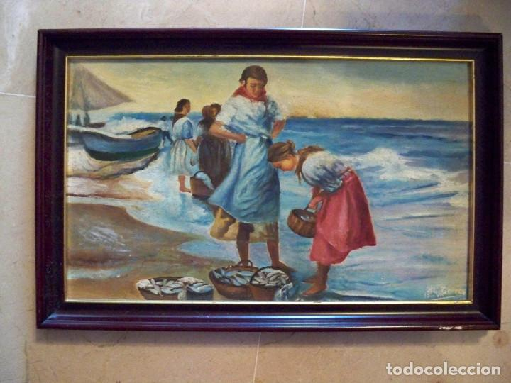 OLEO SOBRE TABLA - FIRMADO - AÑOS 80 - 44X29 (Arte - Pintura - Pintura al Óleo Contemporánea )