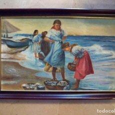 Arte: OLEO SOBRE TABLA - FIRMADO - AÑOS 80 - 44X29. Lote 74486631