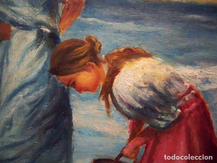 Arte: OLEO SOBRE TABLA - FIRMADO - AÑOS 80 - 44X29 - Foto 5 - 74486631