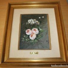 Arte: CUADRO PINTADO AL OLEO SOBRE TABLA DE M. VALLS CON PLACA. Lote 74499427