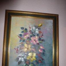 Arte: FLORERO, DE YOLVI. 70,5 X 54 CM SIN MARCO. Lote 74542975