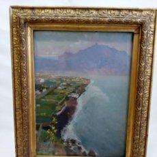 Arte: CUADRO ÓLEO PAISAJE COSTERO AÑOS 30, IMPRESIONISTA, ART DECO, MODERNISTA, ART NOUVEAU. Lote 74594347