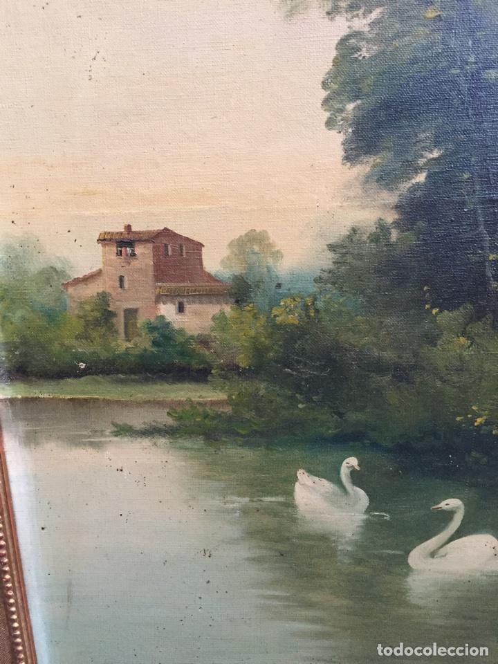 Arte: I.MARTI. S.XIX. PAISAJE PINTADO AL OLEO. SOBRE LIENZO, ENMARCADO. PRECIO 250€ - Foto 2 - 74624765