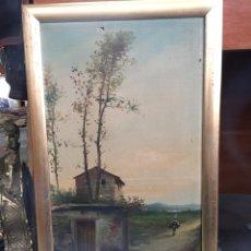 Arte: I.MARTI. S.XIX. PAISAJE PINTADO AL OLEO. SOBRE LIENZO, ENMARCADO. PRECIO 250€. Lote 74624899