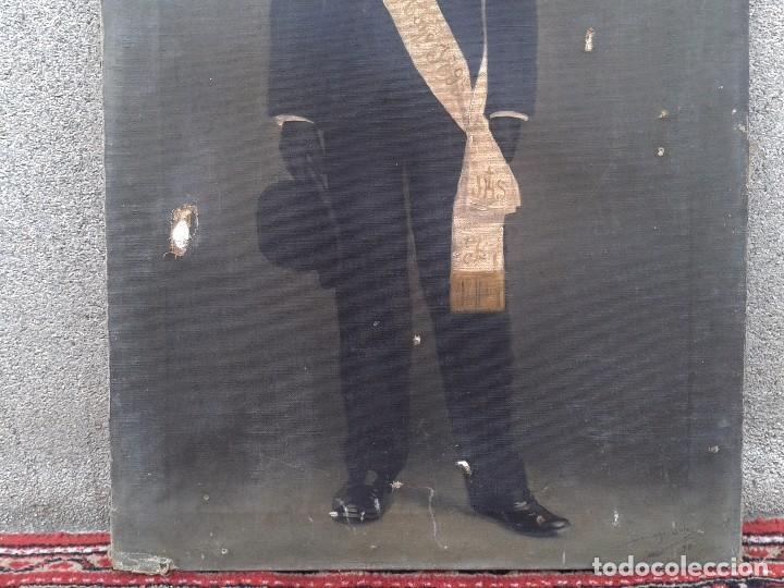 Arte: Domingo Soler Gili 1898 oleo sobre lienzo, retrato de niño de comunión - Foto 4 - 74645755