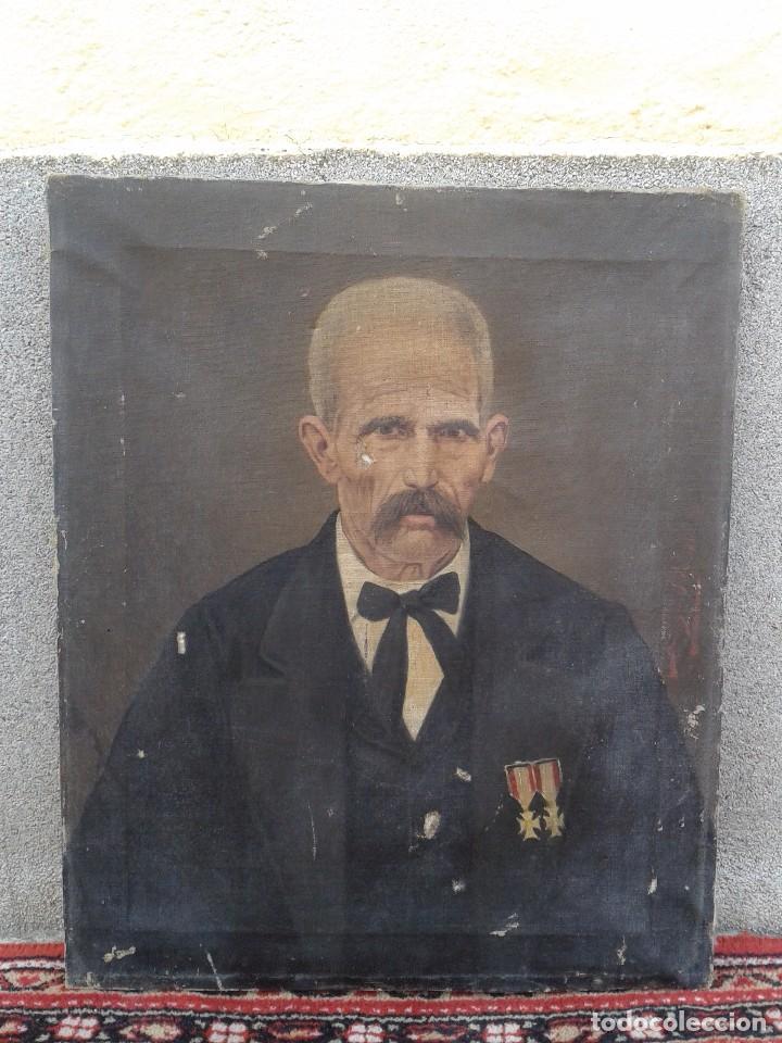 DOMINGO SOLER GILI 1898, RETRATO DE CABALLERO, OLEO SOBRE LIENZO (Arte - Pintura - Pintura al Óleo Moderna siglo XIX)