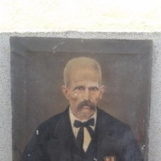Arte: DOMINGO SOLER GILI 1898, RETRATO DE CABALLERO, OLEO SOBRE LIENZO. Lote 74645943