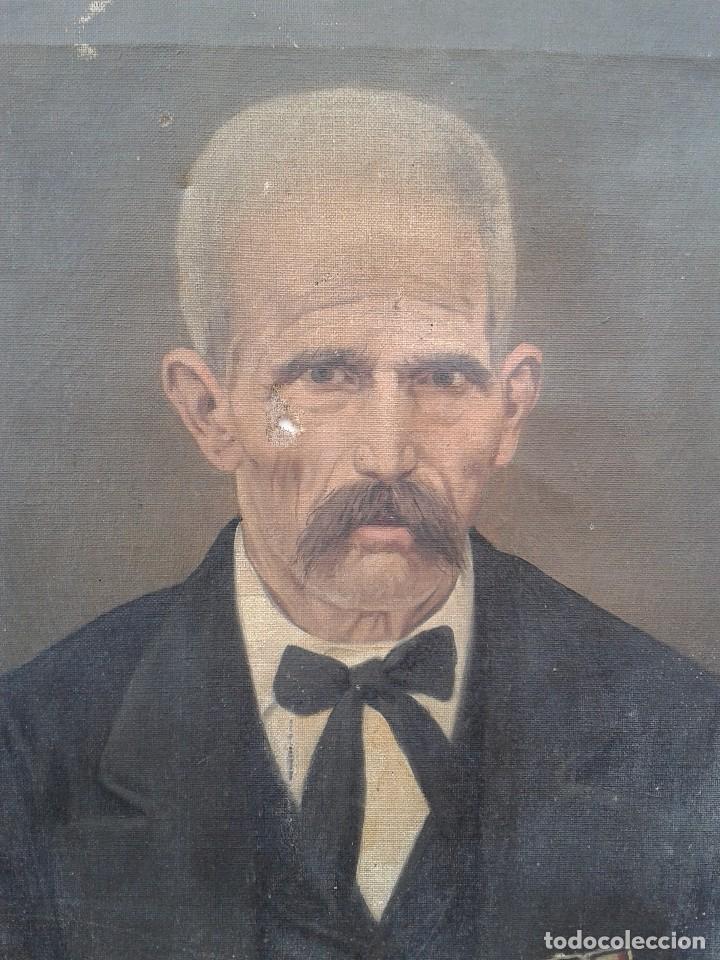 Arte: Domingo Soler Gili 1898, retrato de caballero, oleo sobre lienzo - Foto 2 - 74645943