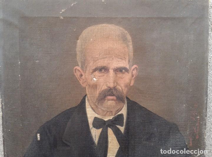 Arte: Domingo Soler Gili 1898, retrato de caballero, oleo sobre lienzo - Foto 3 - 74645943