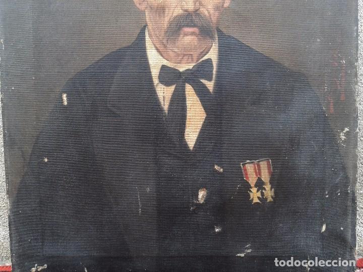 Arte: Domingo Soler Gili 1898, retrato de caballero, oleo sobre lienzo - Foto 4 - 74645943