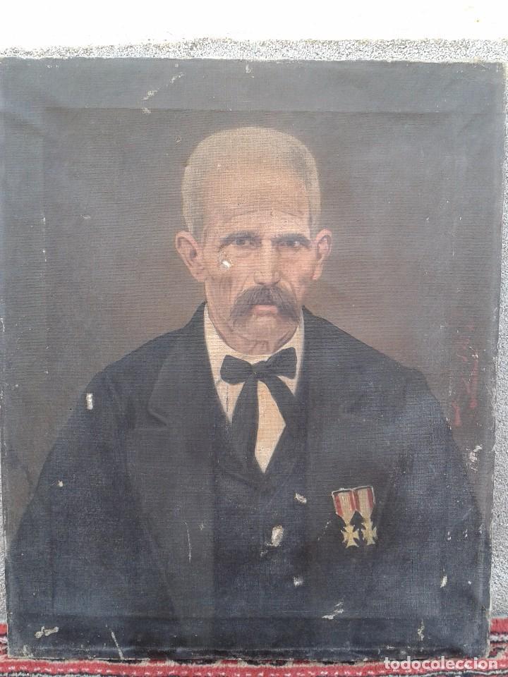 Arte: Domingo Soler Gili 1898, retrato de caballero, oleo sobre lienzo - Foto 5 - 74645943