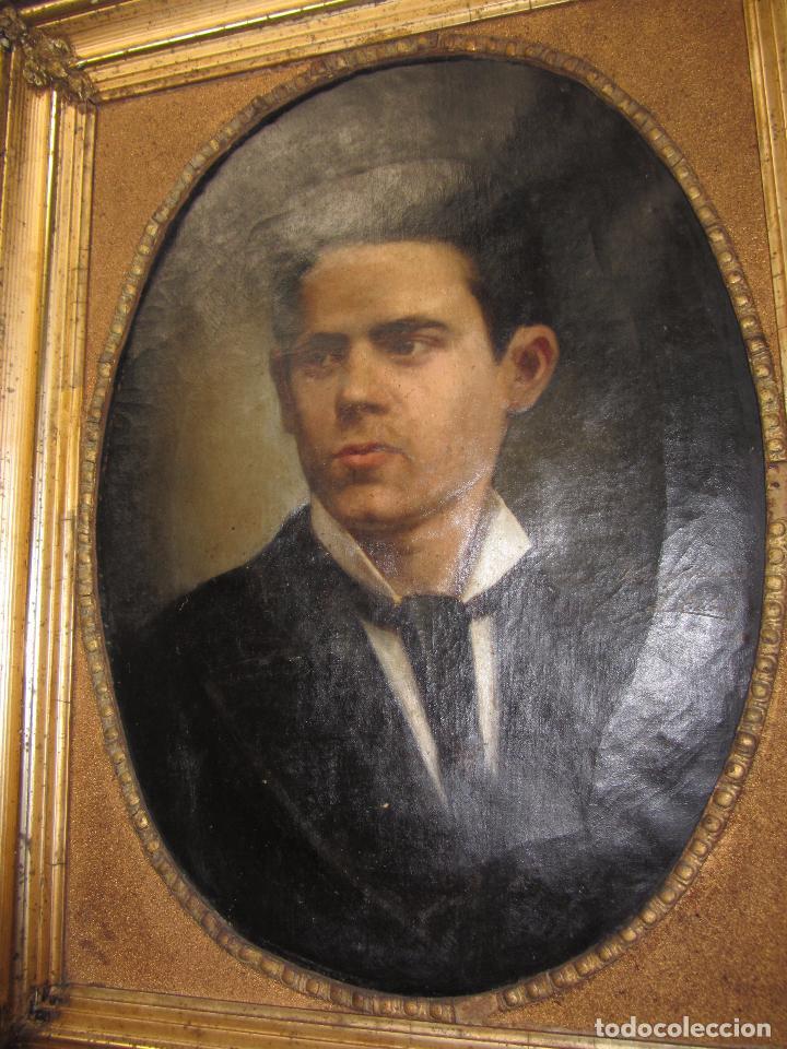 Arte: Oleo - Retrato de Caballero - Firmado y fechado en 1878 Julio Cebrián Mezquita (Valencia 1854-1926) - Foto 9 - 52663172