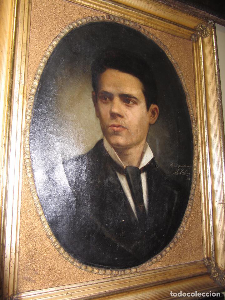 Arte: Oleo - Retrato de Caballero - Firmado y fechado en 1878 Julio Cebrián Mezquita (Valencia 1854-1926) - Foto 10 - 52663172