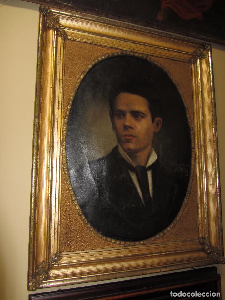 Arte: Oleo - Retrato de Caballero - Firmado y fechado en 1878 Julio Cebrián Mezquita (Valencia 1854-1926) - Foto 11 - 52663172