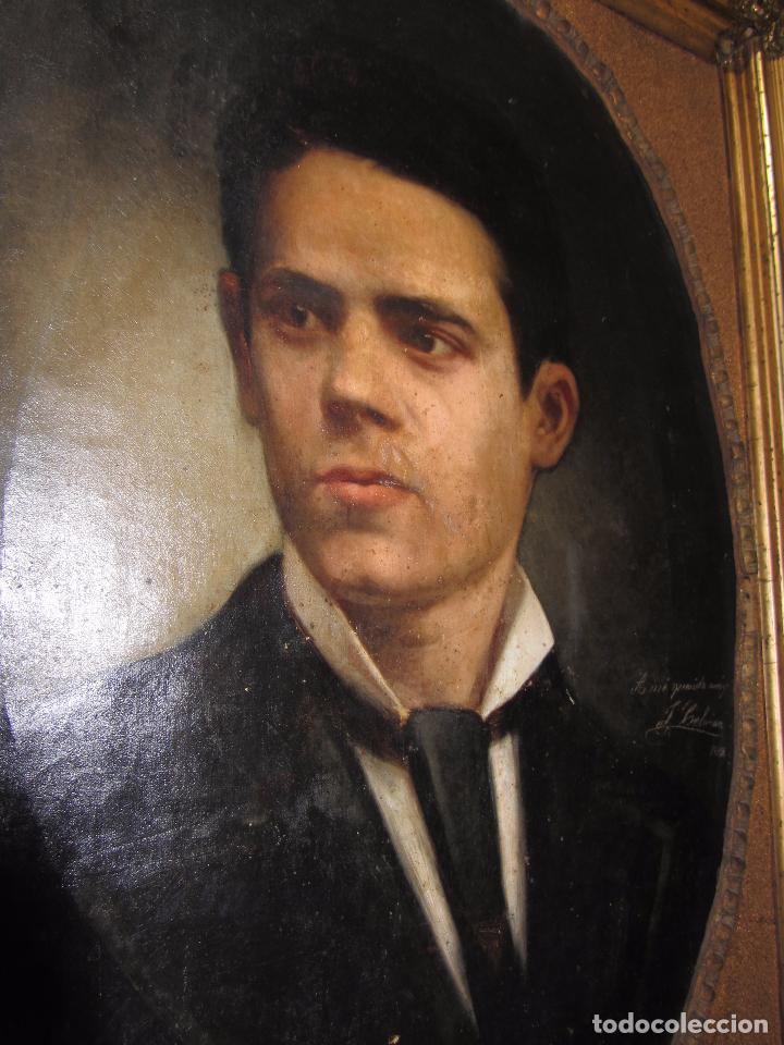 Arte: Oleo - Retrato de Caballero - Firmado y fechado en 1878 Julio Cebrián Mezquita (Valencia 1854-1926) - Foto 12 - 52663172
