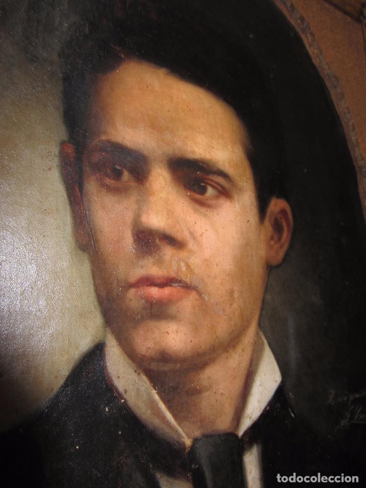 Arte: Oleo - Retrato de Caballero - Firmado y fechado en 1878 Julio Cebrián Mezquita (Valencia 1854-1926) - Foto 14 - 52663172