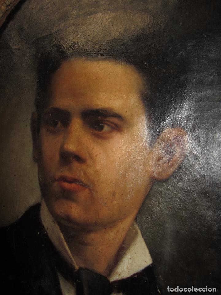 Arte: Oleo - Retrato de Caballero - Firmado y fechado en 1878 Julio Cebrián Mezquita (Valencia 1854-1926) - Foto 15 - 52663172