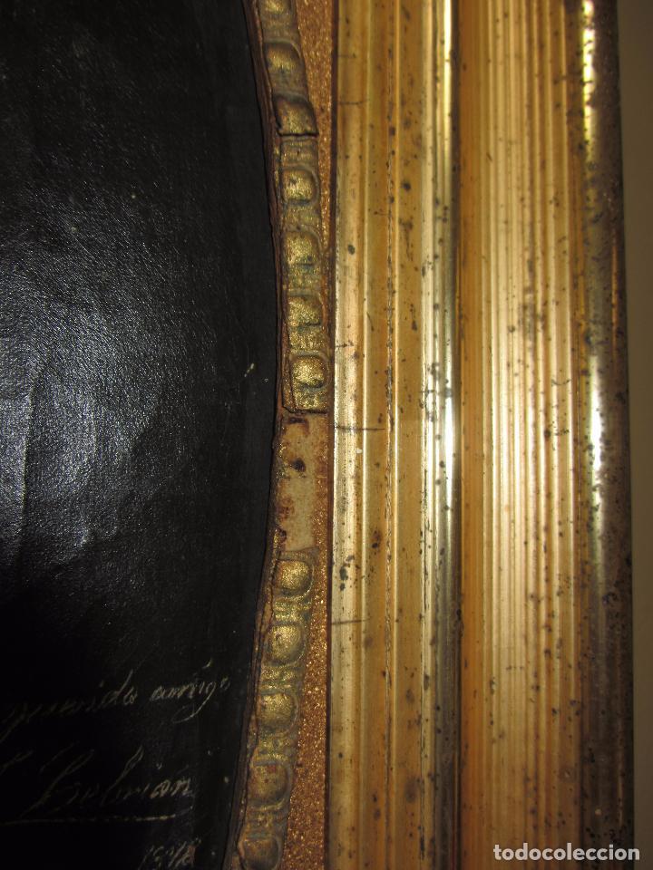 Arte: Oleo - Retrato de Caballero - Firmado y fechado en 1878 Julio Cebrián Mezquita (Valencia 1854-1926) - Foto 19 - 52663172