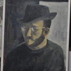 Arte: RETRATO AL ÓLEO SOBRE TABLEX , FIRMADO Y FECHADO EN 1966. Lote 74995055