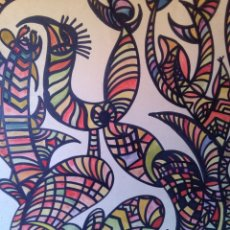 Arte: CUADRO, TEMA ( ABSTRACTO ) FIRMADO. Lote 75050019