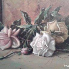 Arte: CUADRO OLEO ROSAS FIRMADO NATOLI PINAZO (MALAGA). Lote 75059811