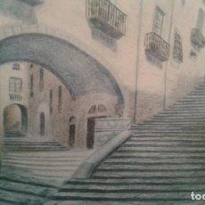 Arte: PAREJA CUADROS LITOGRAFIAS VISTAS DE GIRONA MUY ANTIGUAS. Lote 75068167