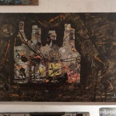 Arte: PINTURA ORIGINAL. BOTELLERO. ACRILICO SOBRE TABLA EN BASTIDOR. MIGUEL GONZALEZ 2016. Lote 75071643