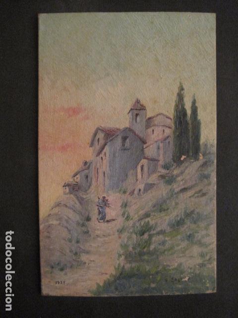 PINTURA AÑO 1925 - VER FOTOS -(V-8760) (Arte - Pintura Directa del Autor)
