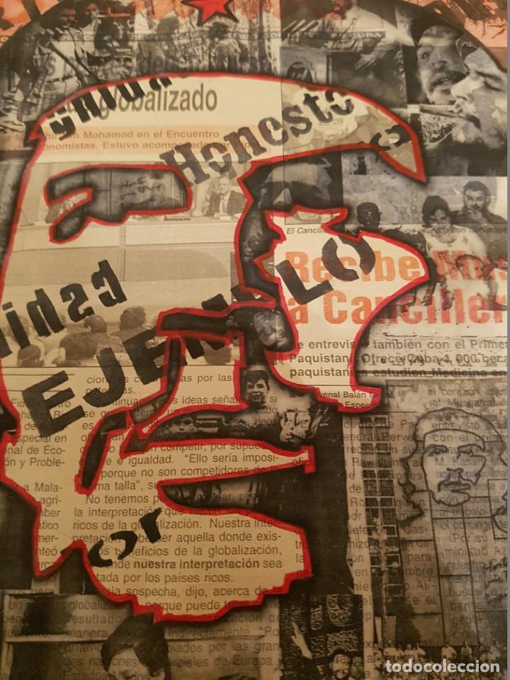 Arte: CUBA CHE GUEVARA PINTURA COLLAGE - Foto 2 - 75241955