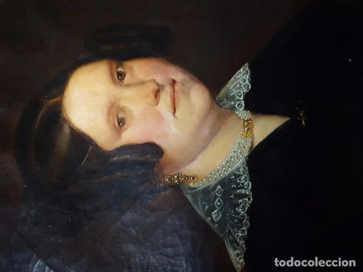Arte: oleo sobre lienzo motivo retrato de mujer - Foto 2 - 75424439