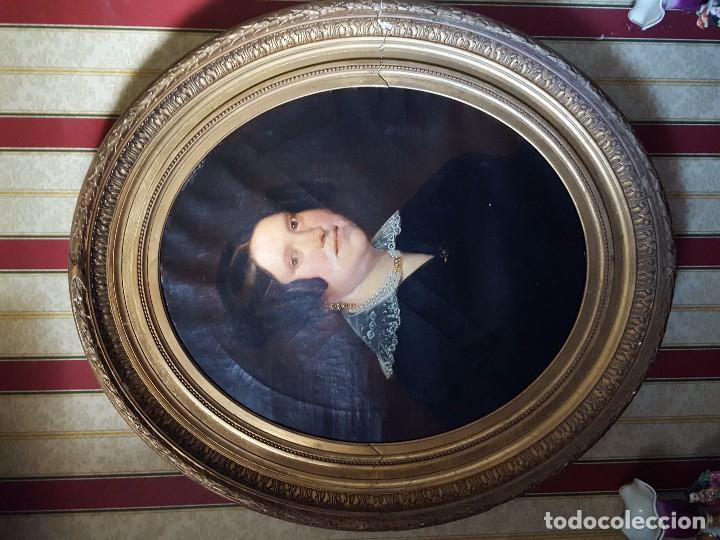 Arte: oleo sobre lienzo motivo retrato de mujer - Foto 4 - 75424439