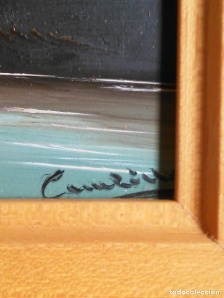 pintura oleo miniatura enmarcada paisaje . marc - Comprar Pintura al ...