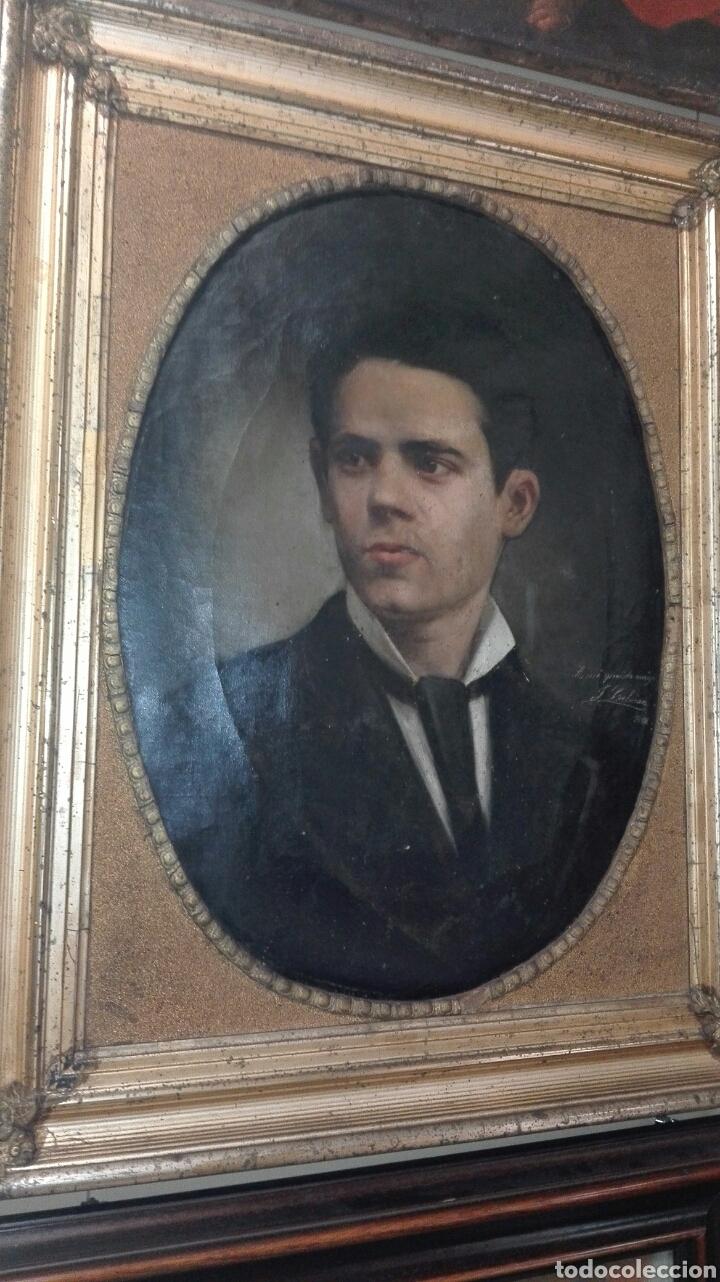 Arte: Oleo - Retrato de Caballero - Firmado y fechado en 1878 Julio Cebrián Mezquita (Valencia 1854-1926) - Foto 23 - 52663172