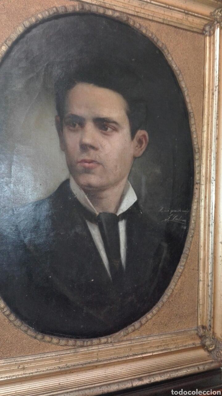 Arte: Oleo - Retrato de Caballero - Firmado y fechado en 1878 Julio Cebrián Mezquita (Valencia 1854-1926) - Foto 24 - 52663172