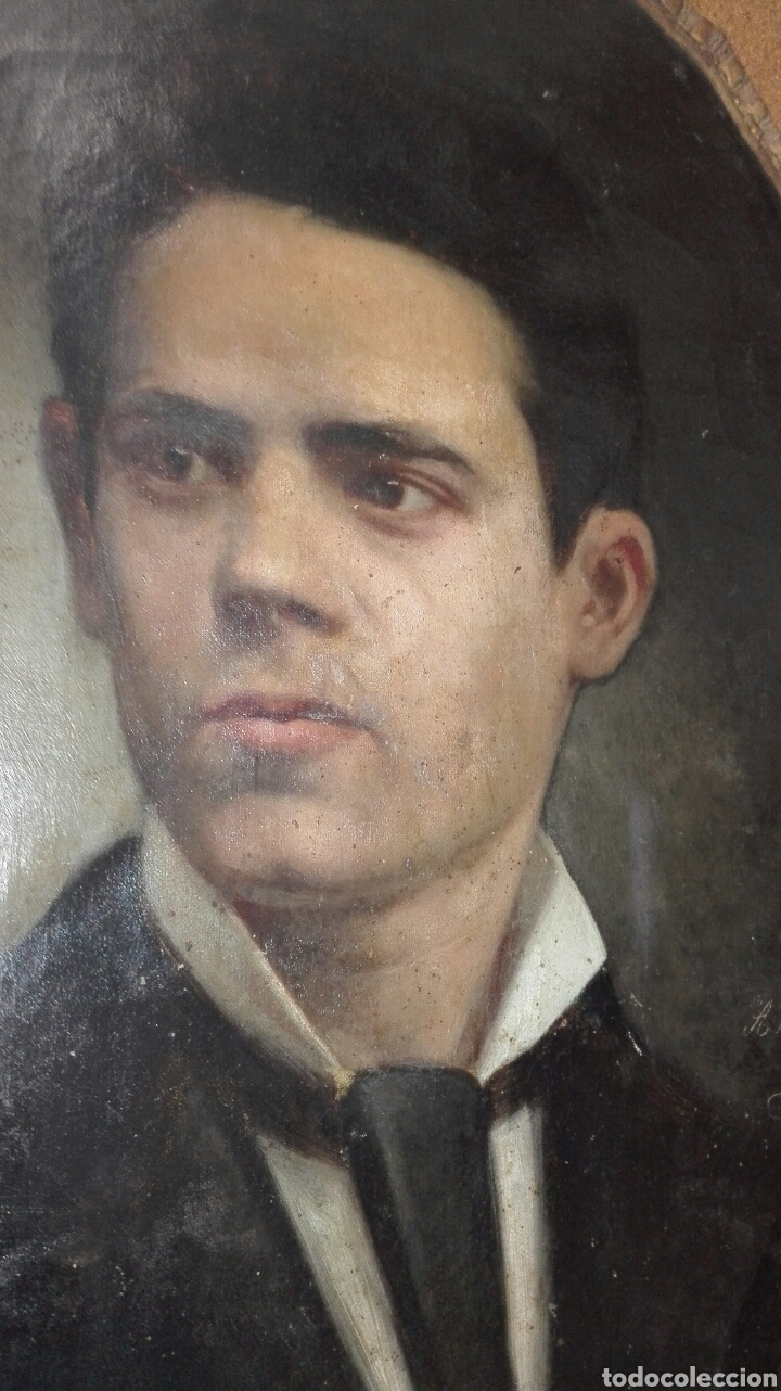 Arte: Oleo - Retrato de Caballero - Firmado y fechado en 1878 Julio Cebrián Mezquita (Valencia 1854-1926) - Foto 25 - 52663172