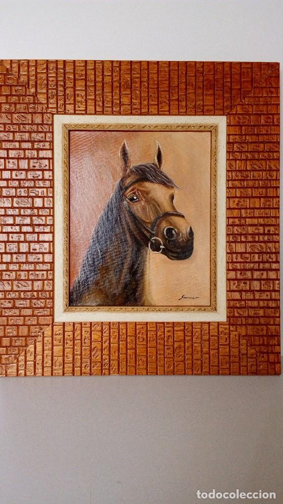 pintura al oleo en lienzo de 27 x 22, cabeza de - Comprar Pintura al ...