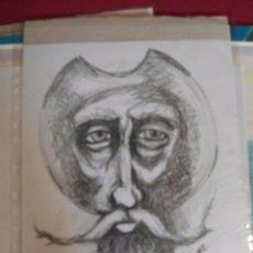 Arte: DON QUIJOTE A GRAFITO - ORIGINAL APUNTE ESCUELA DE ARTE - 37X30. Lote 75806923