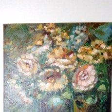 Art - PINTURA AL OLEO, SOBRE TALA TEMA FLORERO, MEDIDAS 25 x 20 Cm - 75819415