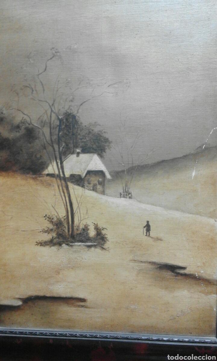 Arte: óleo sobre lienzo XIX firma ilegible - Foto 2 - 76071914