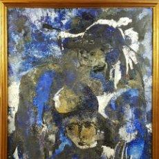 Arte: ABSTRACTO. ÓLEO SOBRE LIENZO. SEGUIDOR DE ANTONI CLAVE. CIRCA 1970. . Lote 76075575