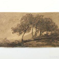 Arte: EXCELENTE ACUARELA ORIGINAL DE FINALES DEL SIGLO XVIII, ROMANTICISMO, GRAN CALIDAD. Lote 76092463