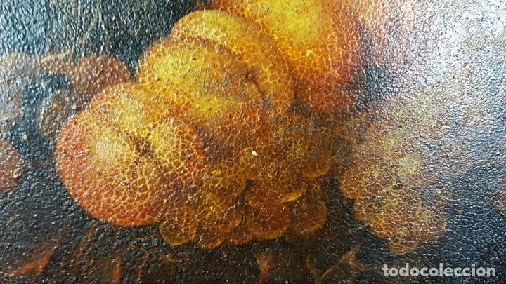 Arte: BODEGON. ÓLEO SOBRE TABLA. ANONIMO. RESTOS DE INCENDIO. SIGLO XVIII-XIX. - Foto 2 - 76118547