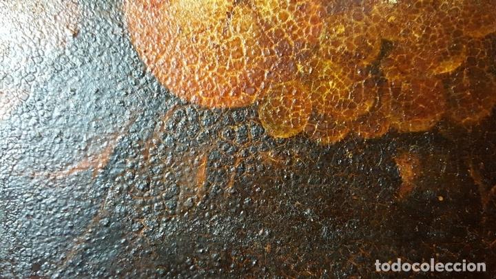 Arte: BODEGON. ÓLEO SOBRE TABLA. ANONIMO. RESTOS DE INCENDIO. SIGLO XVIII-XIX. - Foto 4 - 76118547