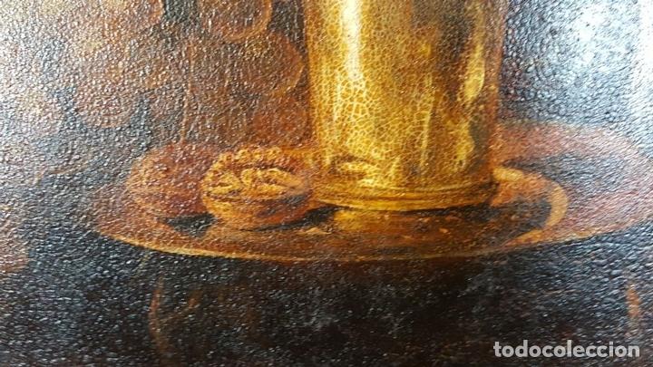 Arte: BODEGON. ÓLEO SOBRE TABLA. ANONIMO. RESTOS DE INCENDIO. SIGLO XVIII-XIX. - Foto 7 - 76118547