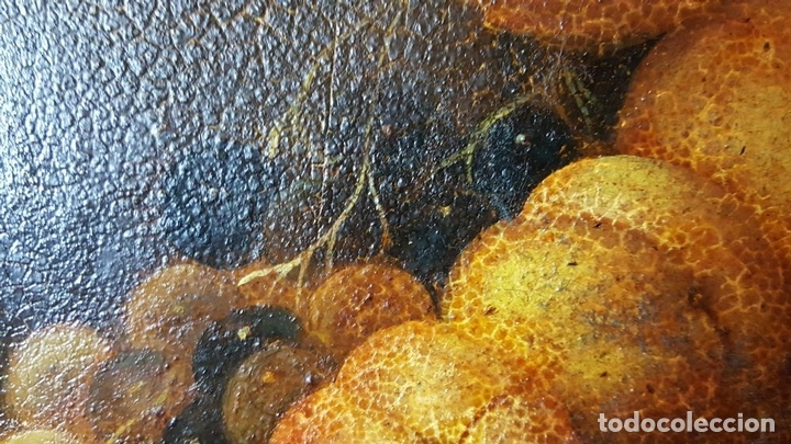 Arte: BODEGON. ÓLEO SOBRE TABLA. ANONIMO. RESTOS DE INCENDIO. SIGLO XVIII-XIX. - Foto 10 - 76118547